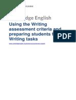 Using writing assessment criteria