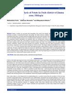 Value chain analysis of Potato in Dedo district of Jimma zone, Ethiopia