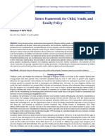 A Risk and Resilience Framework for Child, Youth, and Family Policy
