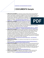 Derivative Documents