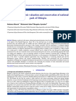 Review on Economic valuation and conservation of national park of Ethiopia