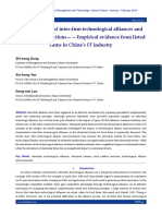 Characteristics of inter-firm technological alliances and stock market reactions——Empirical evidence from listed firms in China's IT industry