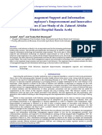 Effect of Management Support and Information Technology on Employee's Empowerment and Innovative Work Behaviors (Case Study of dr. Zainoel Abidin District Hospital Banda Aceh)