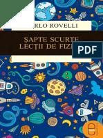 Carlo Rovelli - Șapte Scurte Lecții de Fizică-Humanitas (2017)