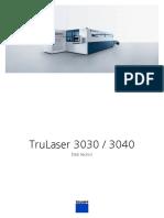 TRUMPF Technical Data Sheet TruLaser 3030 3040