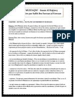 Zad-Al-mustaqni-chap.59-Section 2-Pacte Avec Les Dhimmis Et Ses Règles