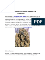 Why Geeting Cannabis for Medical Purposes Is A Good Idea?