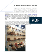The Importance of Wooden Handicraft Items in India and Overseas