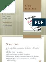 Client Evaluation(1)