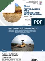 Faktor–Faktor Yang Mempengaruhi Hasil Pemadatan