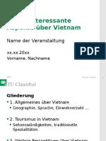 Präsentation Über Vietnam
