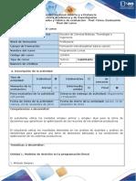 Guía de Actividades y Rúbrica de Evaluación - Post-Tarea - Evaluación Final Del Curso