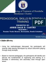 Plenary - Pedagogical Skills in Rondalla Training