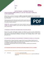CP N°17 SNCF - Météo France vigilance rouge inondation.