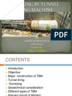 TBM - PPT - Tunneling by Tunnel Boring Machine