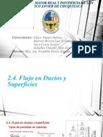 2.4. Flujo en Ductos y Superficies
