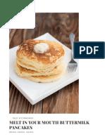 Buttermilk Pancakes - Oh Sweet Basil