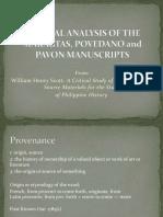 The Maragtas Povedano and Pavon Manuscripts Presentation 170517053457 (1)
