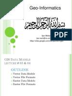 GIS Lec 03 & 04 Spatial Data
