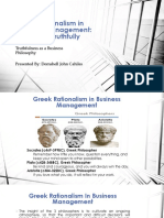Greek Rationalism in Business Management