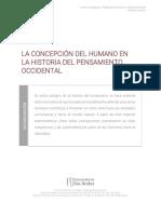La concepción de lo humano