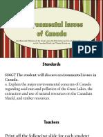 environmental concerns of canada