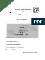 ENSAYO SEMIÓTICA EN ARQUITECTURA SISTEMAS AMBIENTALES II