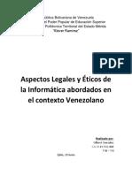 Informe Aspectos Legales y Éticos