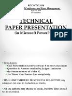 Technical Paper Presentation