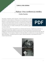 Fuentes Sobre Balzac_ Una Conferencia Inédita _ Cultura y Vida Cotidiana