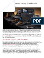 Spek PC Atau Laptop Yang Optimal Untuk Edit Dan Render Video