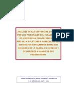 Estudio Sentencias Tj y AP Muertes Pareja o Expareja 2014 y Menores