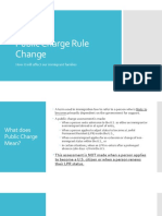 Public Charge Rule Change