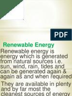 Renewable Energ