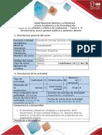 Guía de Actividades y Rúbrica de La Evaluación - Tarea 4 - E-Government, Nueva Gestión Pública y Gobierno Abierto 2019 16-4