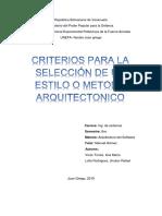 criterios de seleccion de un estilo arquitectonico