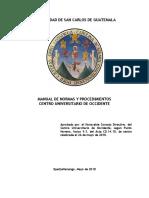Manual de normas y procedimientos Cunoc
