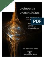 Método de Matemáticas Para Acceso a La Universidad y Primeros Cursos Universitarios
