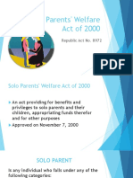 Solo Parents' Welfare Act