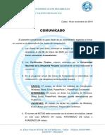 COMUNICADO1 - ELADEPTH