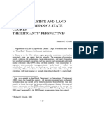 Access to Justice and Land Disputes in Ghana's State Courts- The Litigants' Perspective