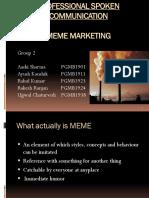 Meme Marketing Group 2