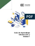 Guía de Aprendizaje Unidad 1 - Procesos de Manufactura