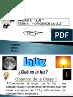 2019 Luz i Origen-fenomenos de La Luz