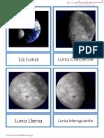 Material Montessori La luna y sus fases