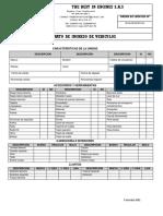 Lista de Chequeo Recepcion de Vehiculos