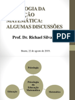Apresentacao-Psicologia Da Educacao Matematica-22!08!2019_Ed Matematica