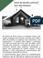 A África Diante Do Desafio Colonial