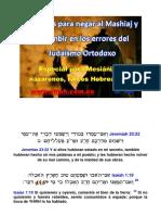 33 Pasos Para Negar Al MESHIAJ y Sucumbir en Los Errores Del Judaísmo Ortodoxo