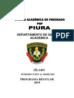 Silabus Introduccion Al Derecho 2019
